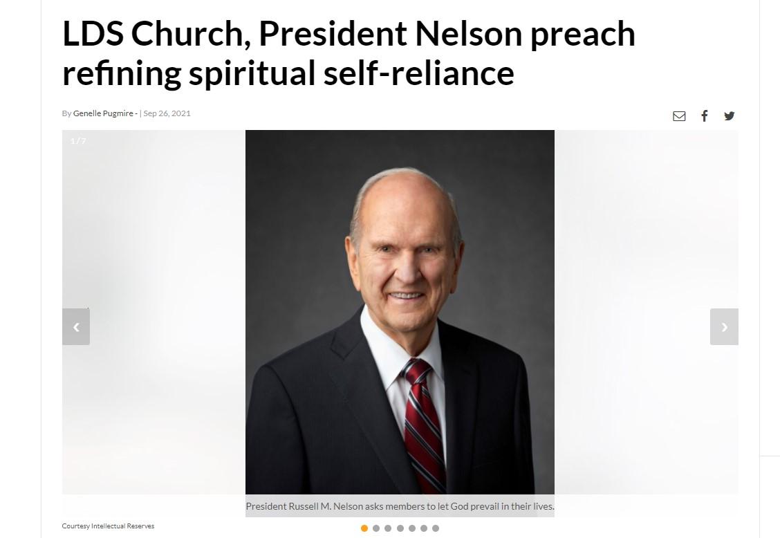 LDS Church, President Nelson preach refining spiritual self-reliance